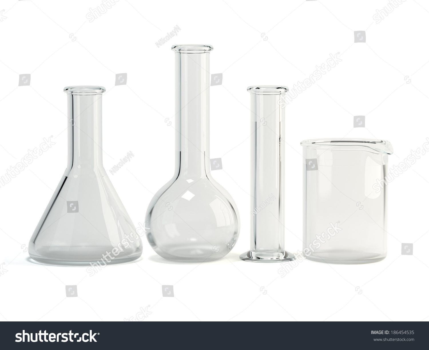 Testtubes Isolated On White Background Laboratory Stock - Ceiling lamp made by chemistry test tubes
