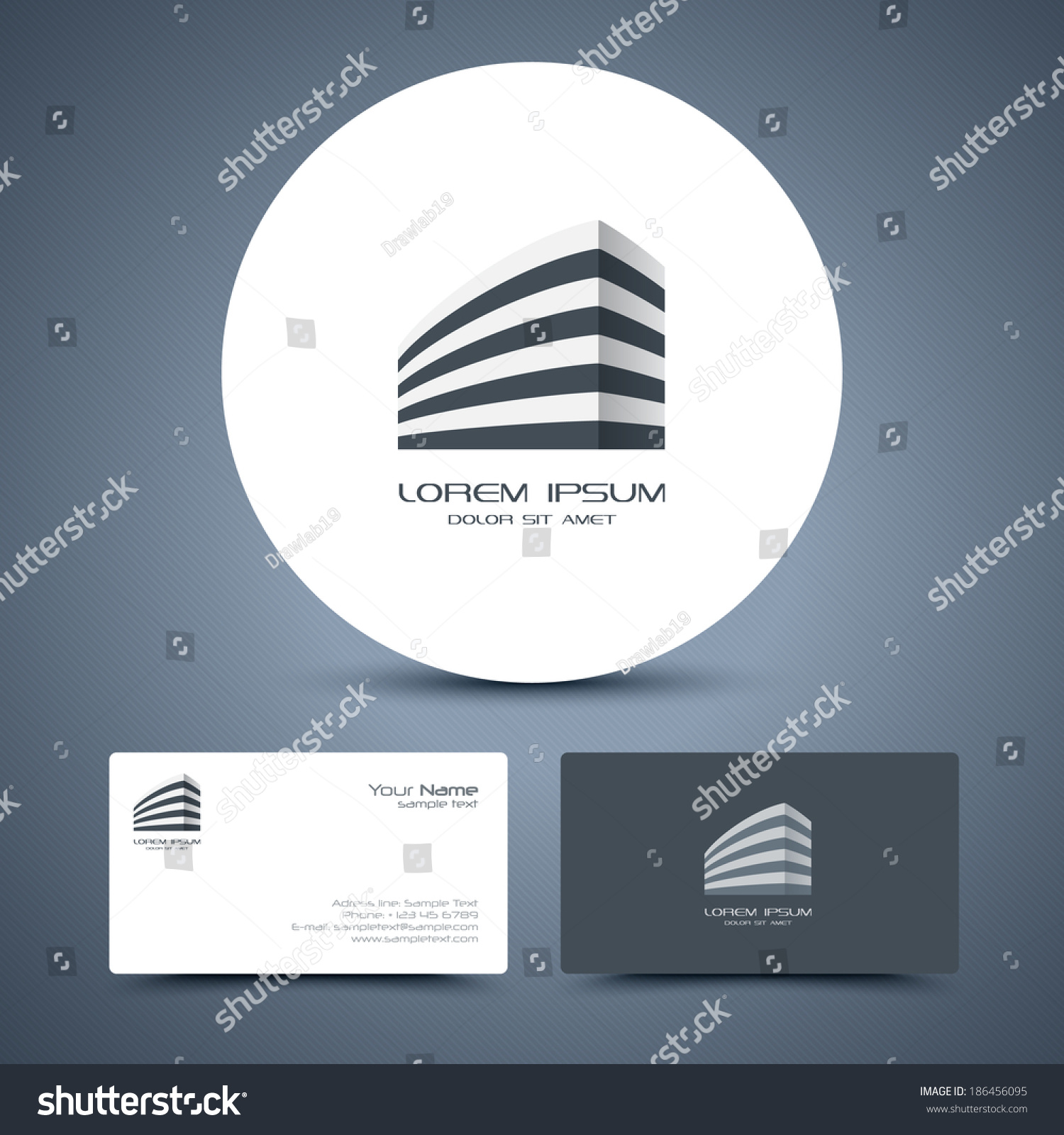 vector business card template universal business stock vector