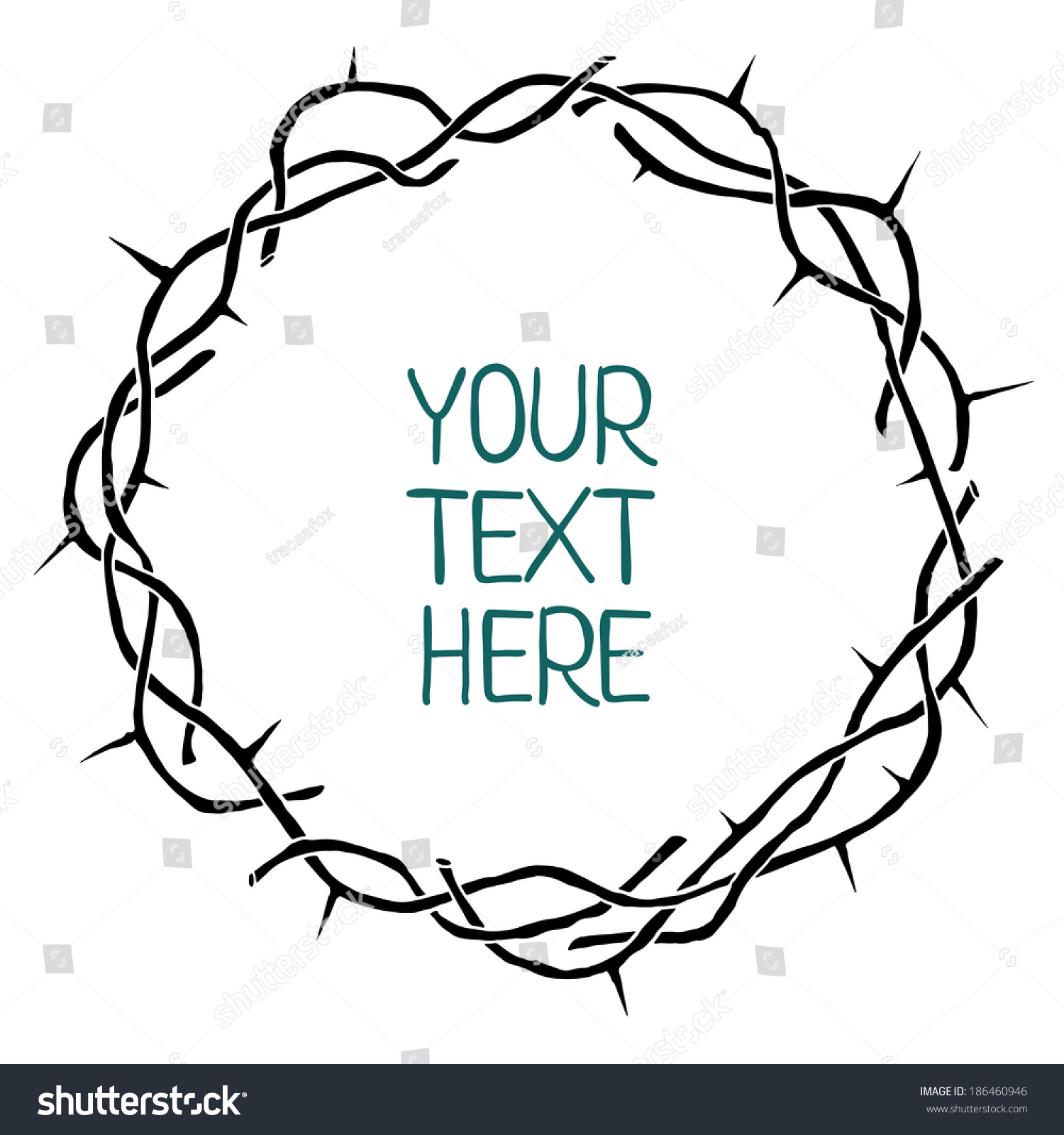 Crown Of Thorns Vector Frame