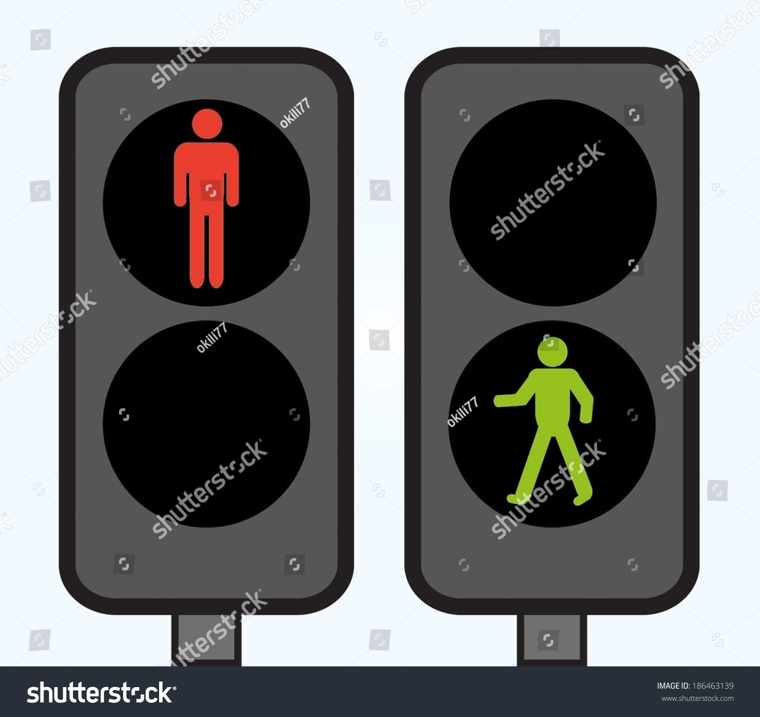 Pedestrian Traffic Lights Illustration Vector Stock Vector ...