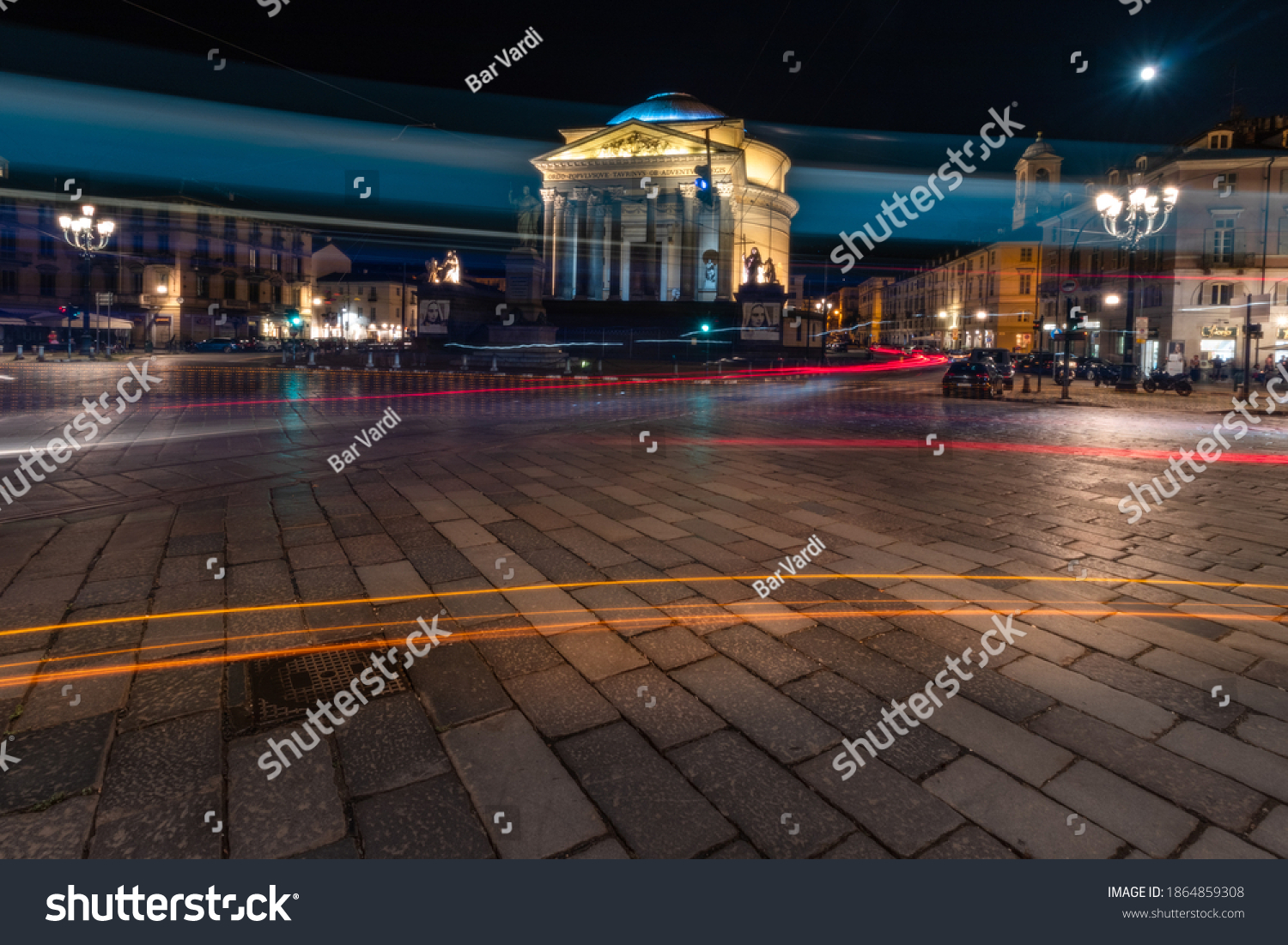 The Cathedral Gran Madre At Night Turin Italy  #1864859308