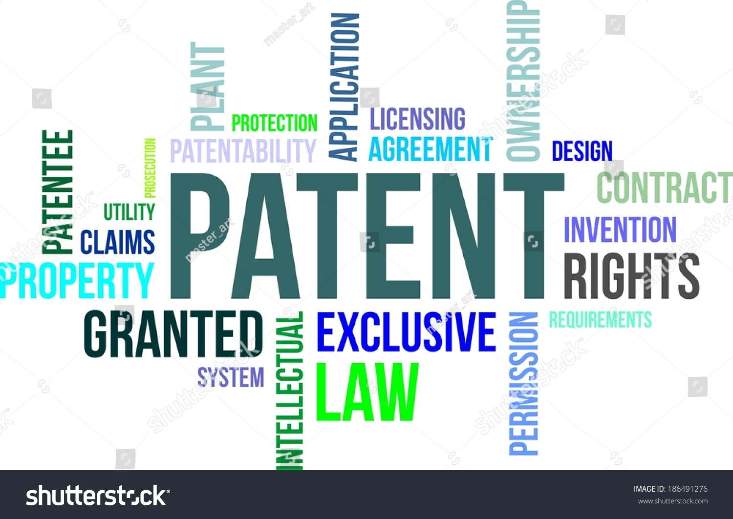 Word Cloud Patent Related Items Stock Vector 186491276 - Shutterstock