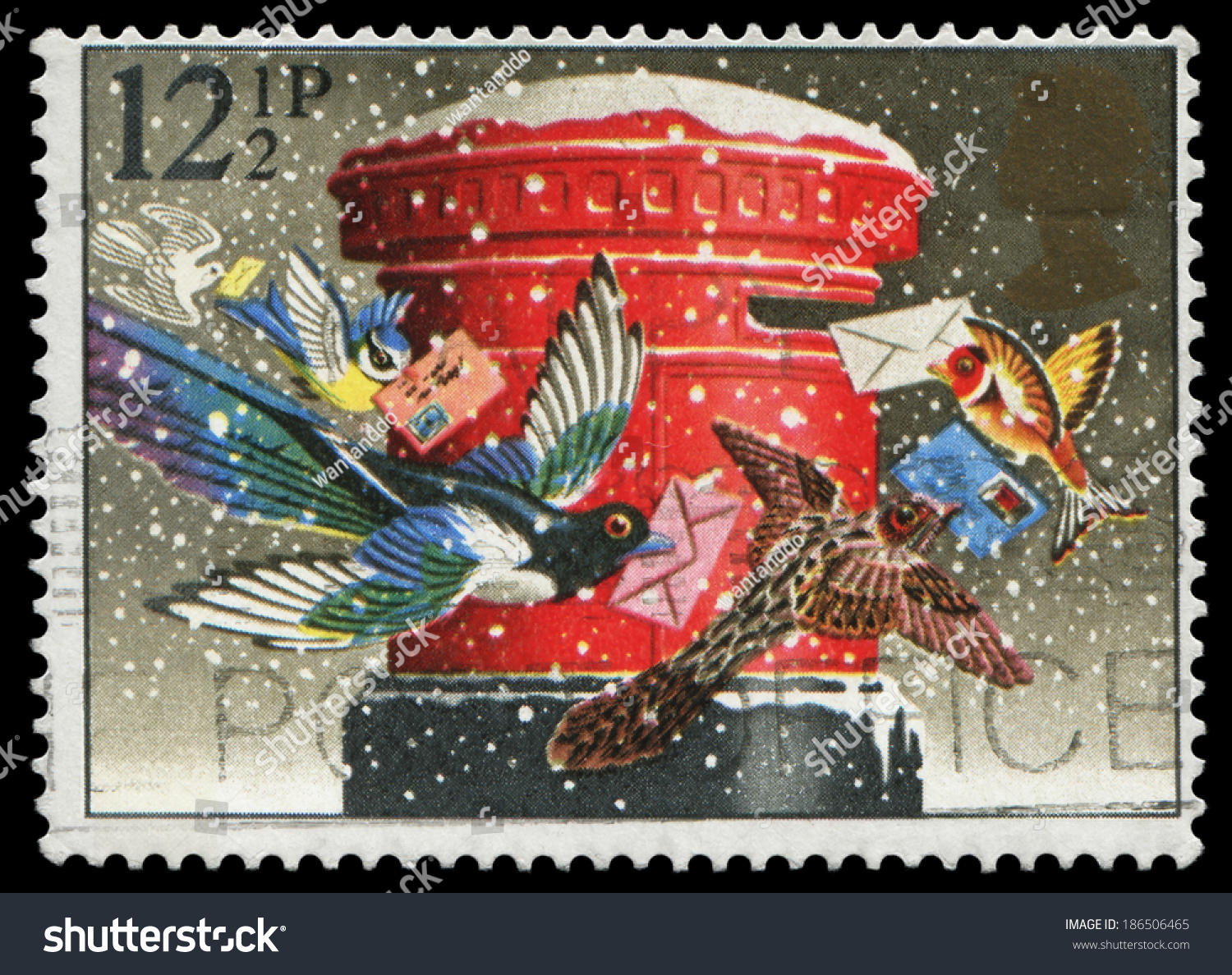 UK 1983 Christmas Stamp Birds Mailing Cards Stock Photo (Edit Now ...