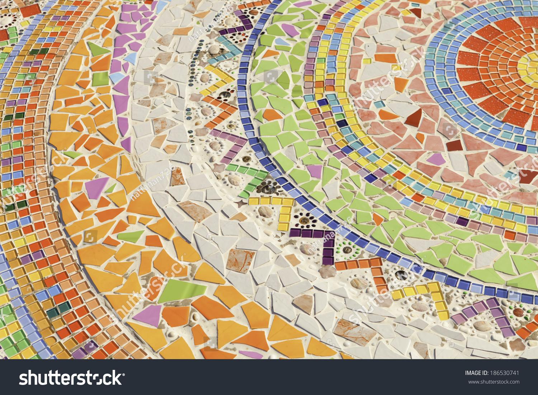 Colorful Mosaic Flooring Walls Stock Photo (Royalty Free) 186530741 ...