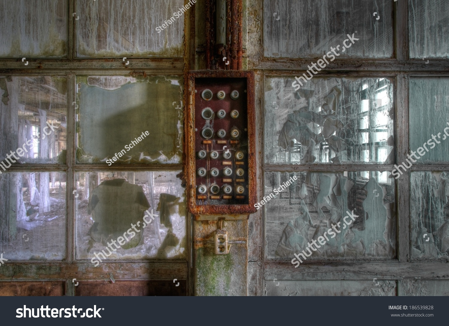 Old Fuse Box Door Trusted Wiring Diagrams Doors Abandoned Hall Stock Photo Edit Now 186539828 Rh Shutterstock Com Electrical House