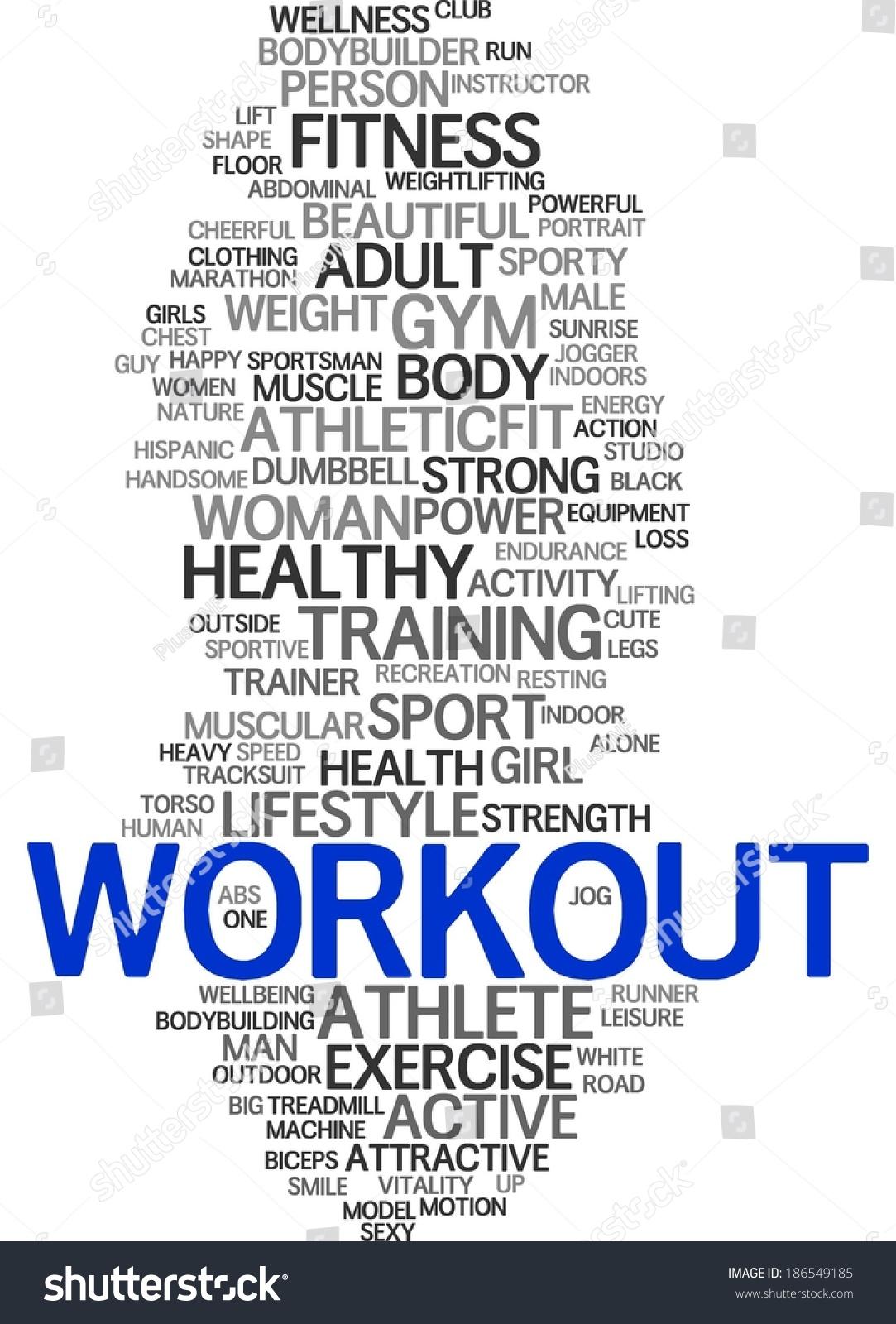 Workout Concept Wallpaper Stock Illustration 186549185