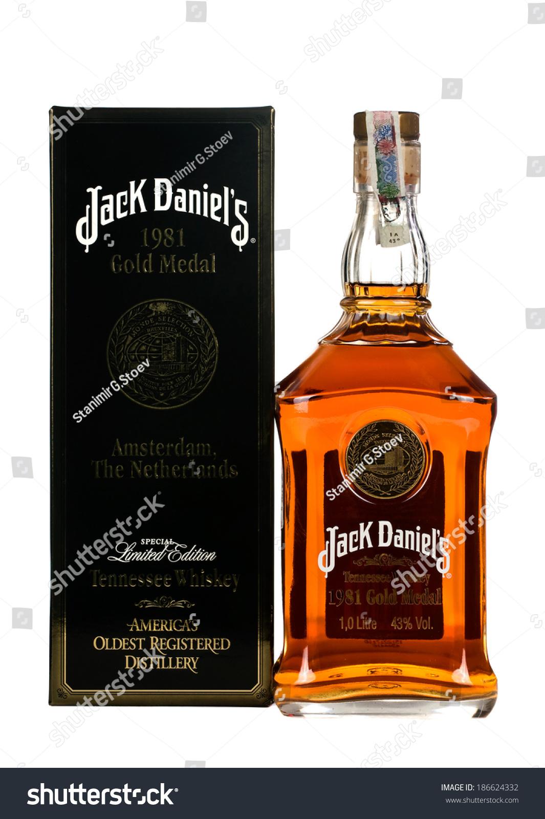 varnabulgariamarch 022014 photo botle jack daniels stock photo edit