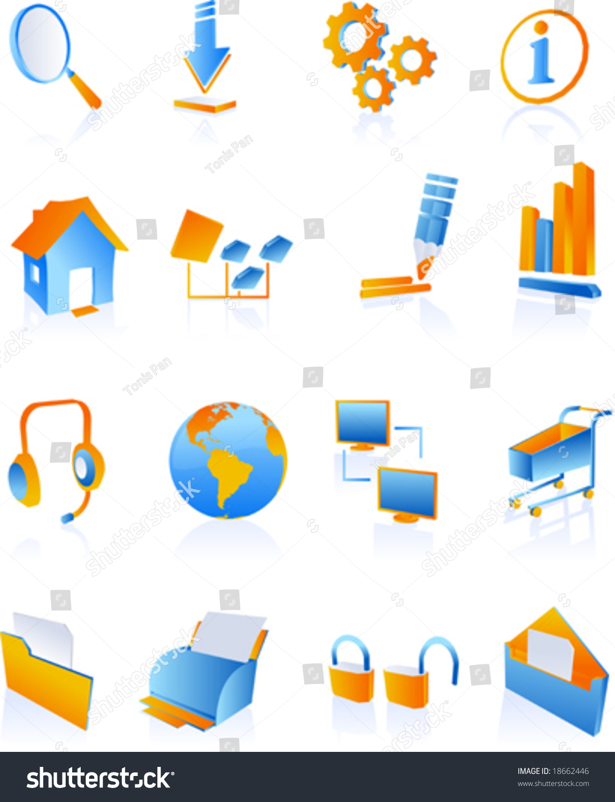 Vector clip art icons symbols websites stock vector 18662446 vector clip art icons and symbols for websites and internet in blue linear gradients buycottarizona Choice Image