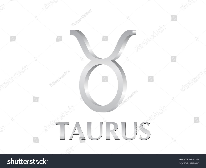 Astrological Symbol Sign Taurus 3 D Stock Illustration 18664795