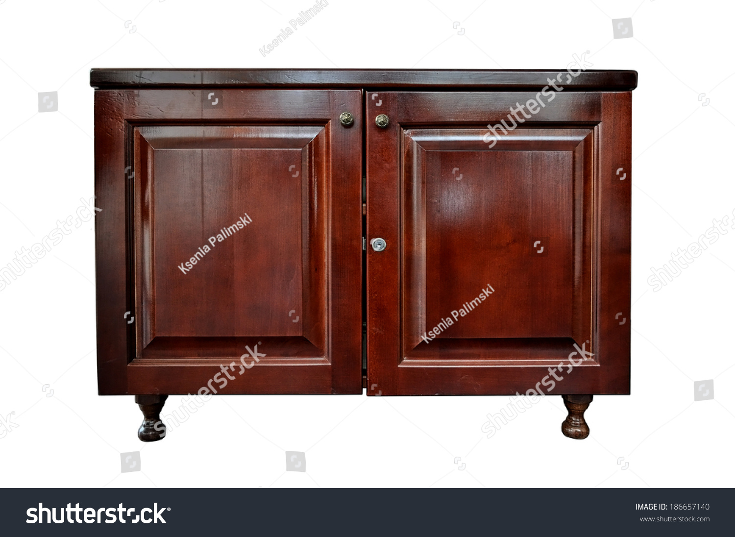 This Photo Wooden Locker Cabinet Isolated Stock Photo 186657140 Shutterstock