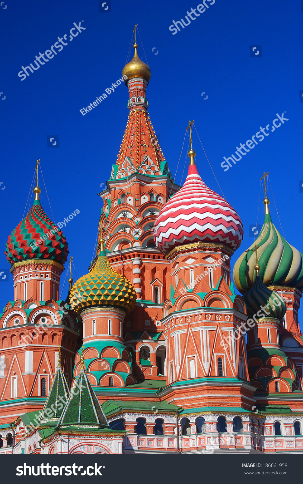 St Basil Cathedral Red Square Moscow Stock Photo 186661958 ...