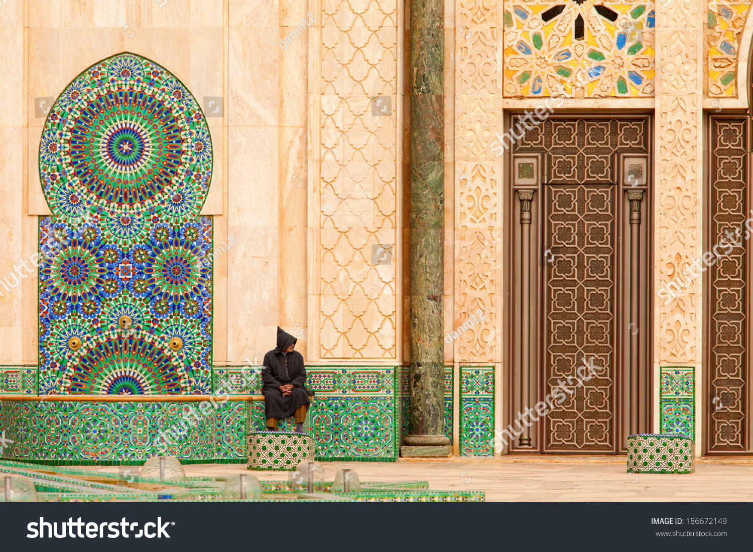 1100 #B86A13 Casablanca Morocco: Ornate Exterior Brass Door Of Hassan II Mosque In  picture/photo Ornate Front Doors 39791500