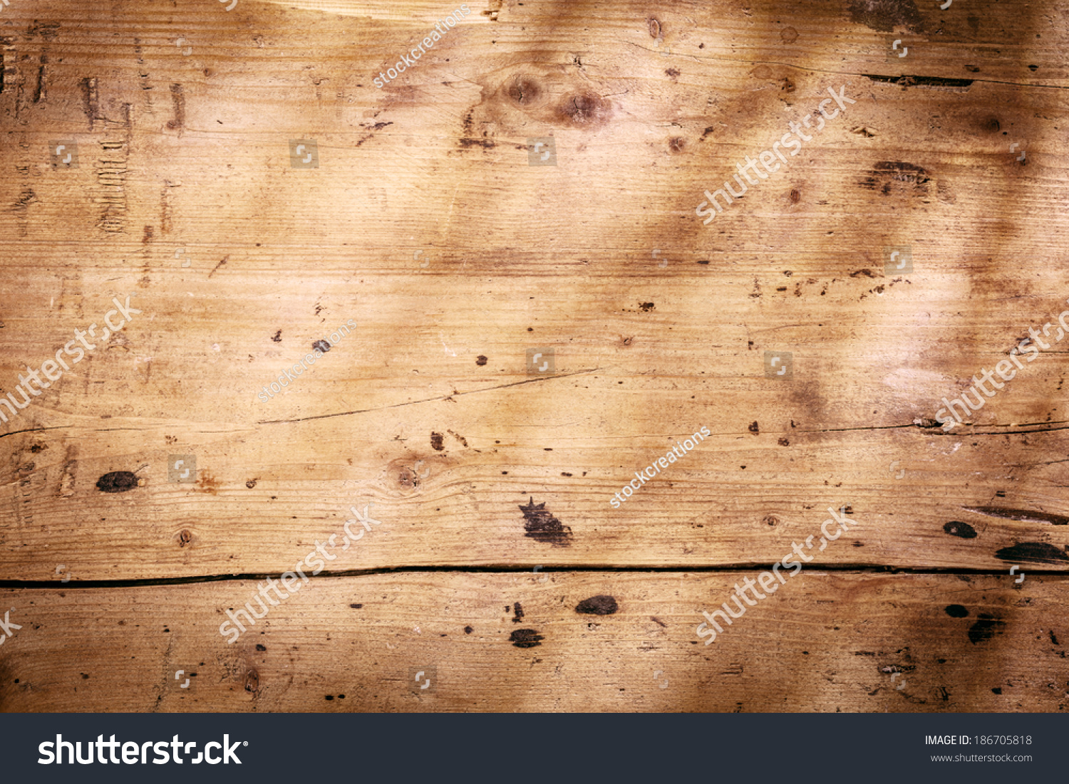Worn Down Wooden Planks ~ Vintage wooden background texture worn smooth stock photo