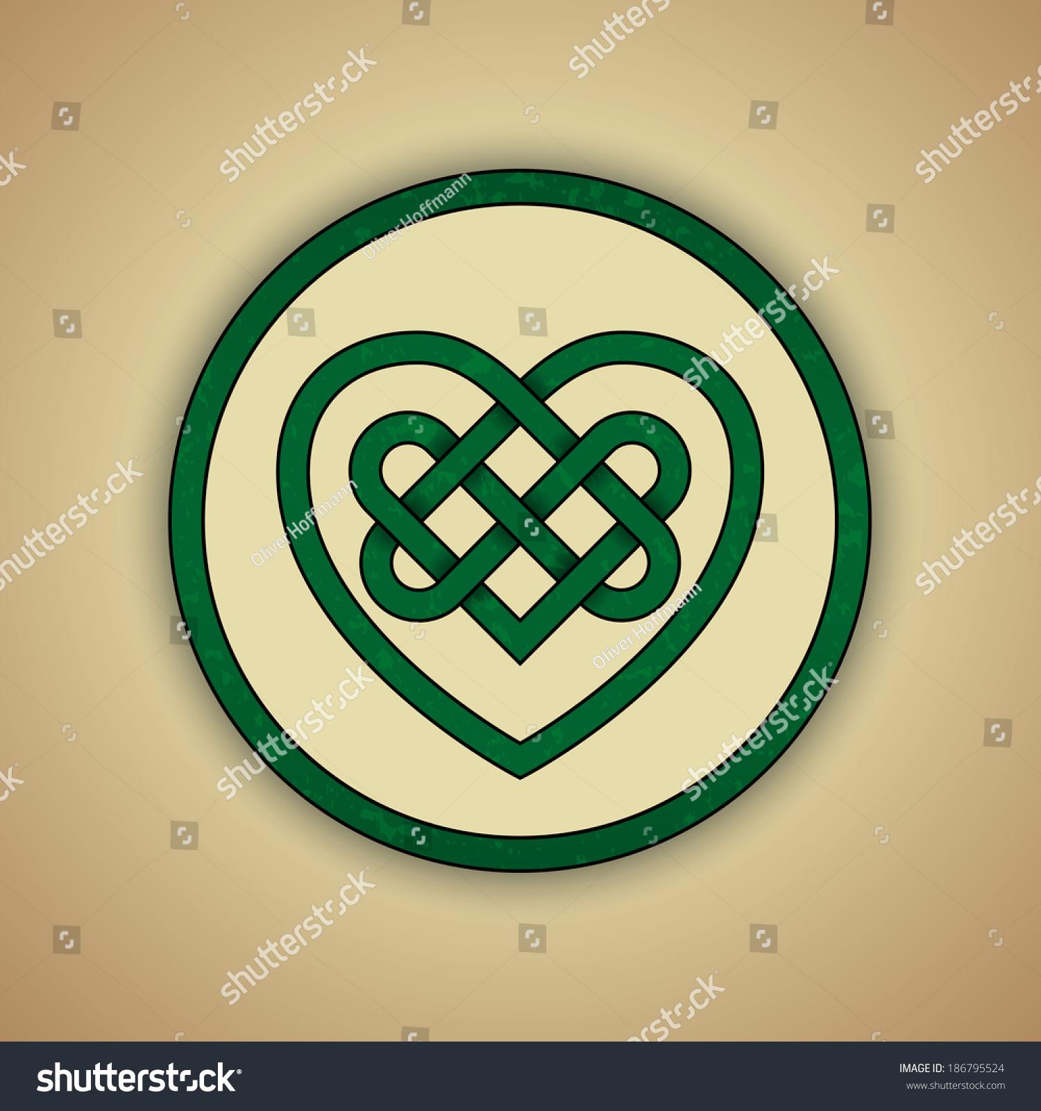 Celtic Heart Knot Symbol Love Vector Stock Vector Royalty Free