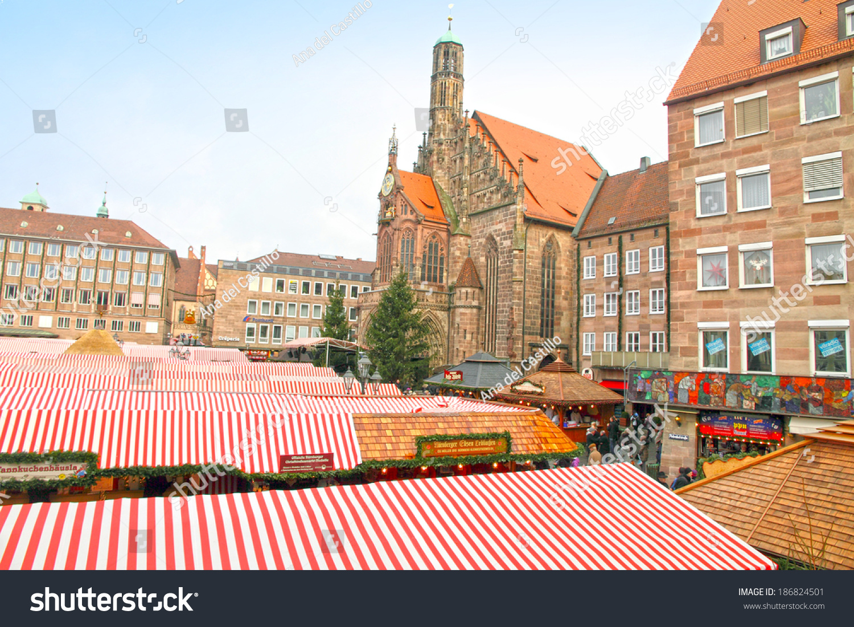 NUREMBERG DECEMBER 8 Christmas Market Marktplatz Stock Photo (Edit ...