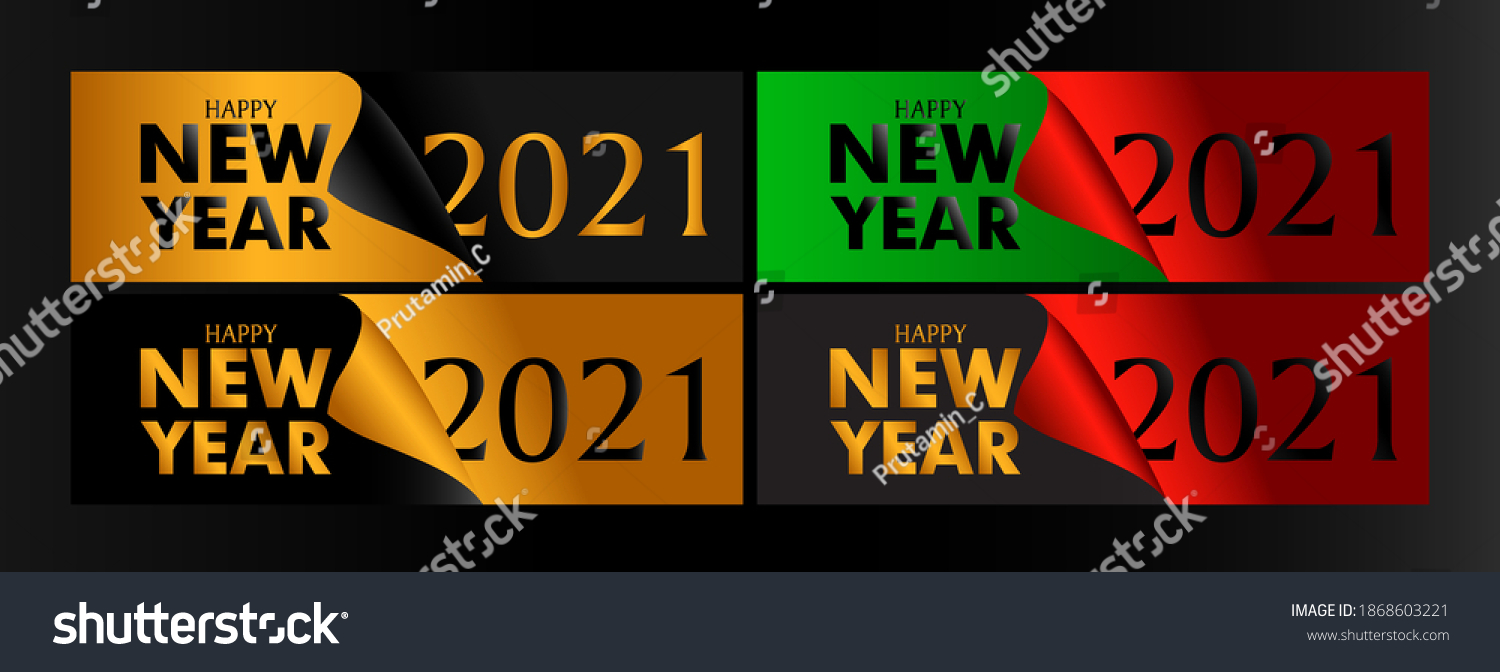 2021 Happy New Year. Realistic Golden metal number. Christmas Poster, banner, cover card, brochure, flyer, layout design