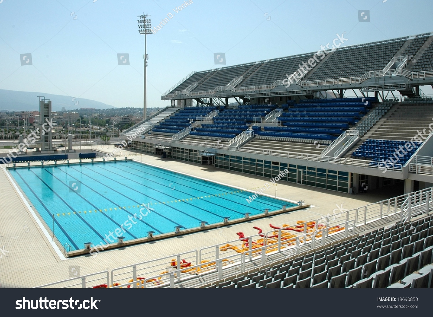 Swimming Pool Olympic Stadium Athens Greece Stock Photo 18690850 Shutterstock