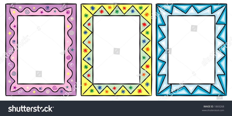 Set Original Funny Vector Decorative Frames Stock Vector (Royalty ...