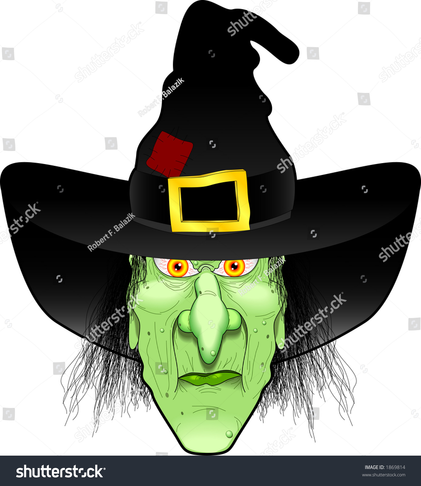 Witch Face Vect...