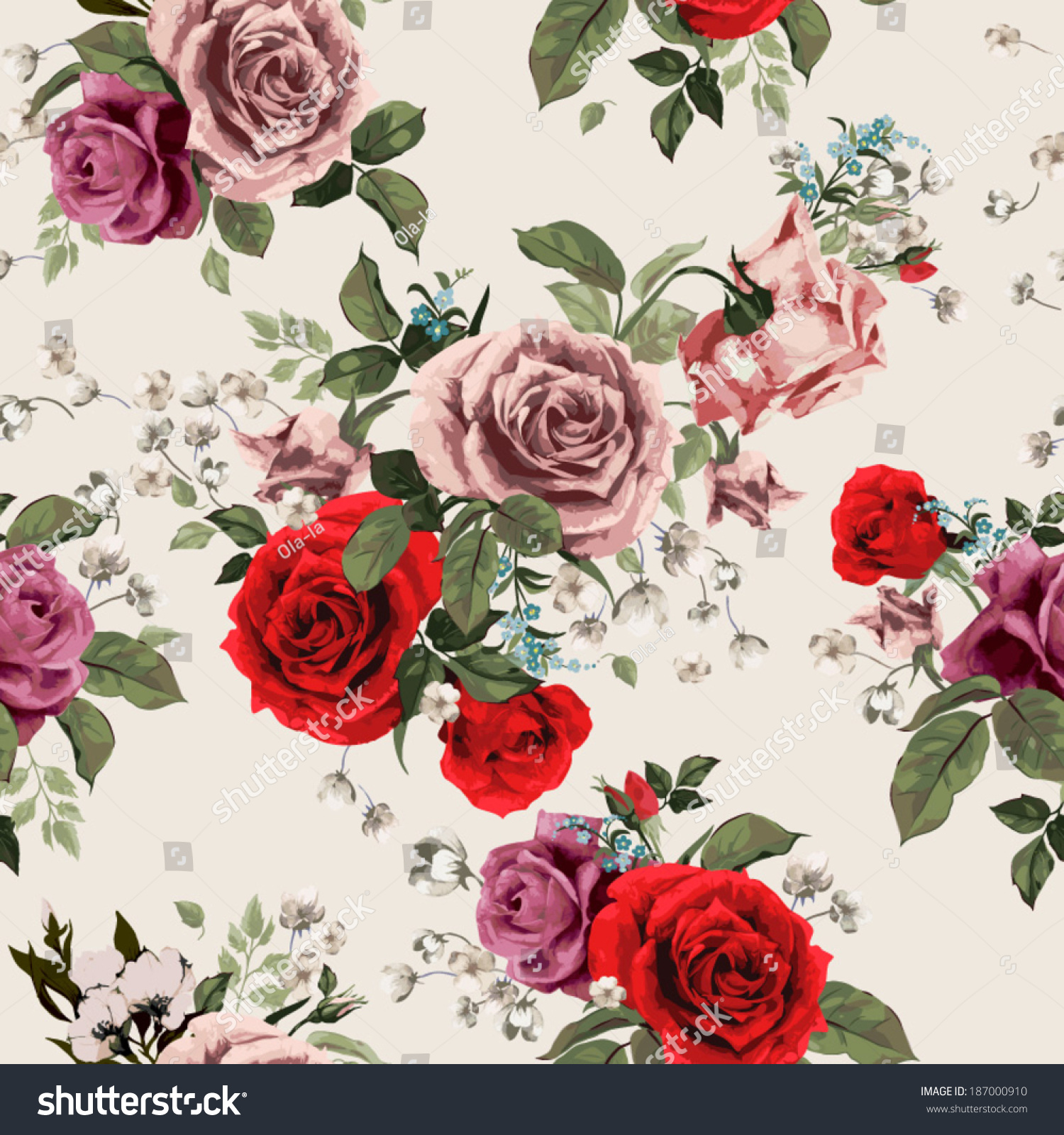 Seamless pink floral pattern - photo#25