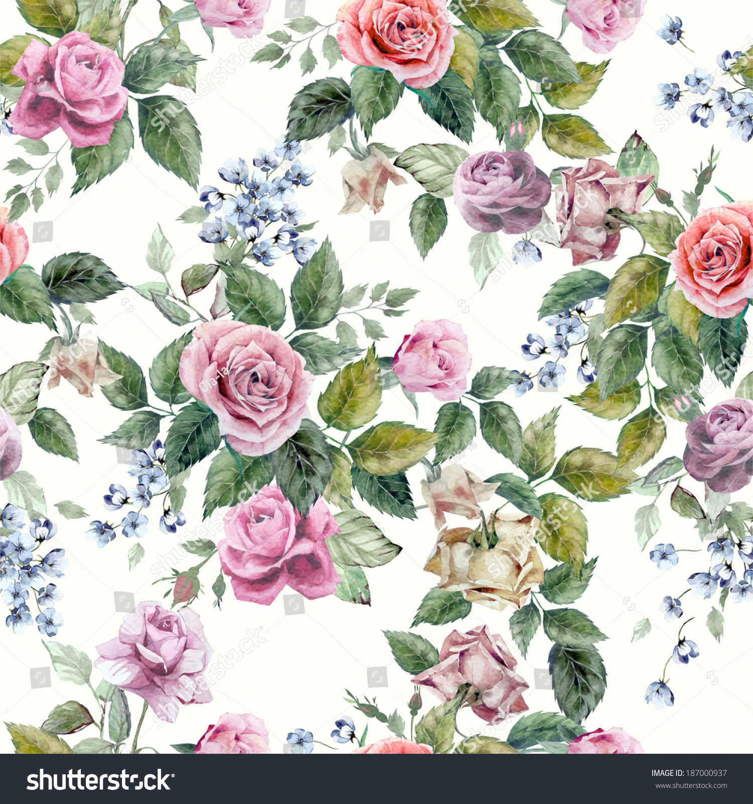 Seamless pink floral pattern - photo#43