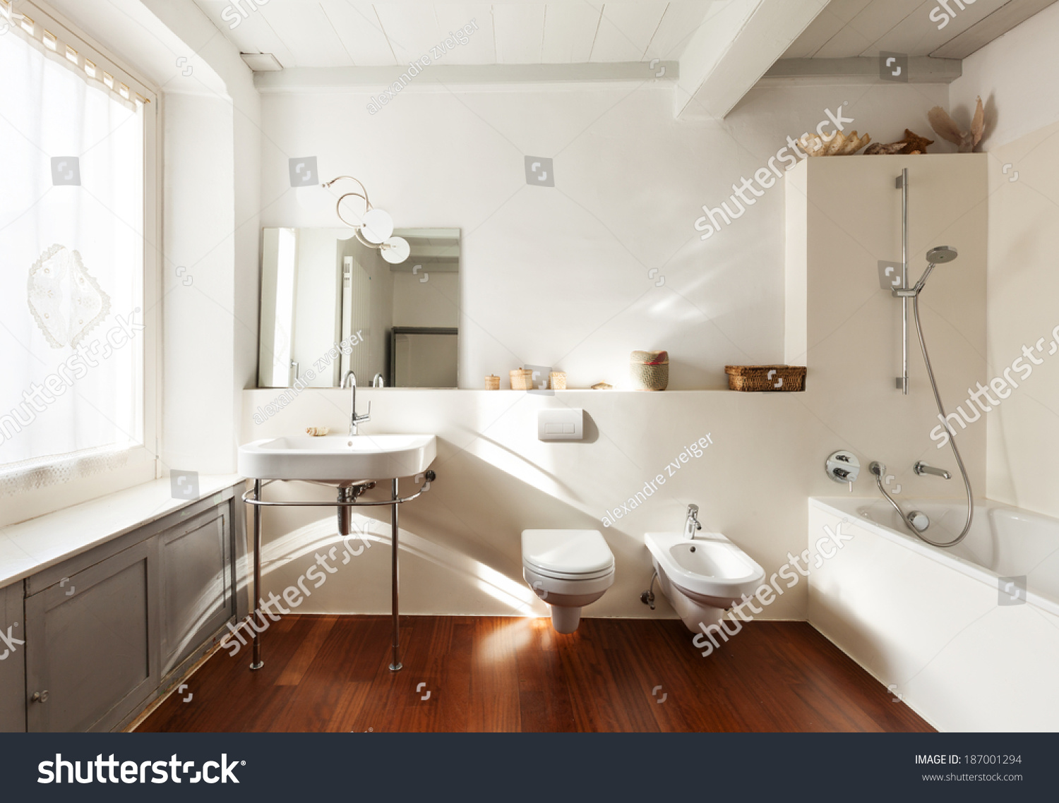 Comfortable bathroom interior nice loft stock photo 187001294 shutterstock - Comfy interiors ...