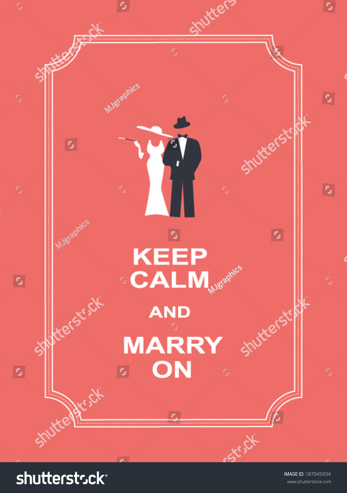 Keep Calm Motivational Poster Suitable Wedding Stock Vector (Royalty ...