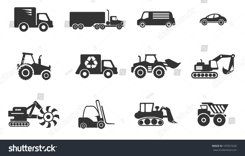 Symbols Transportation Loading Machines Stock Vector Royalty Free