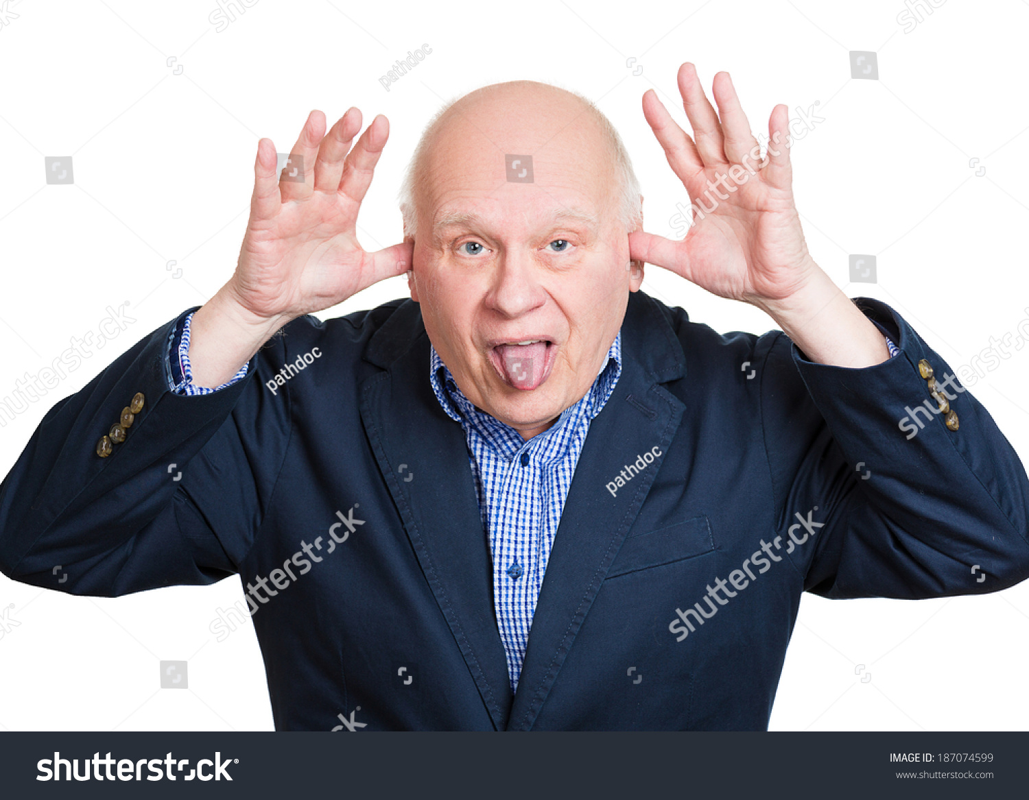 closeup portrait senior mature angry man stock photo (royalty free
