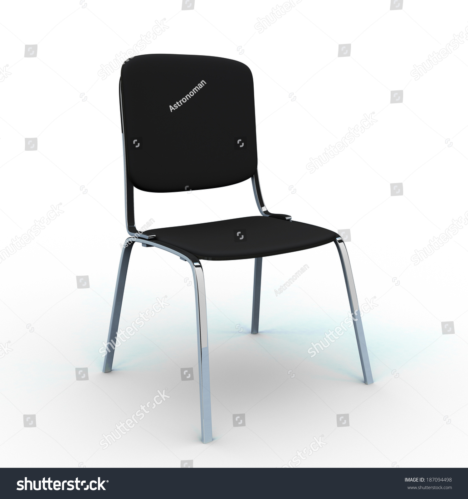 Basic fice Chair Cloth Covered Isolated Stock Illustration