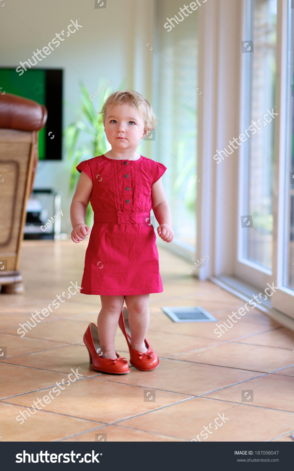 Different Age Kids Wearing Different Size Shoes
