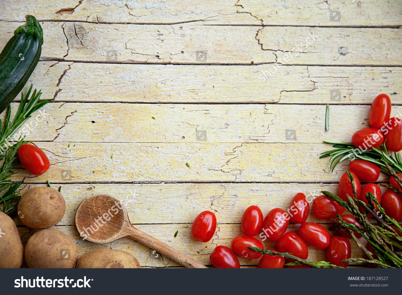 Fresh Organic Vegetables Food Background Healthy Stock ...