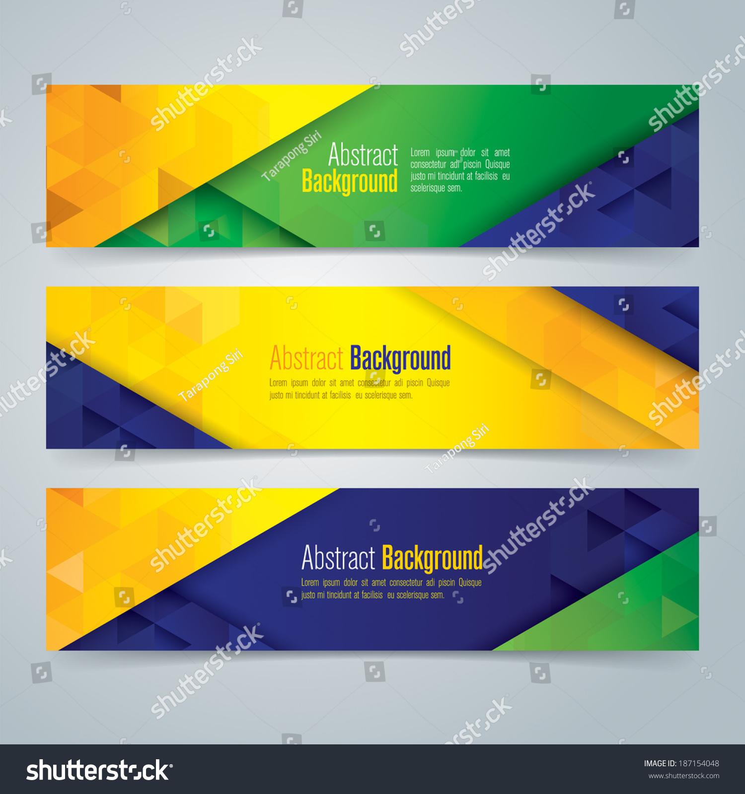 Collection Banner Design Brazil Flag Color Stock Vector 187154048 ...
