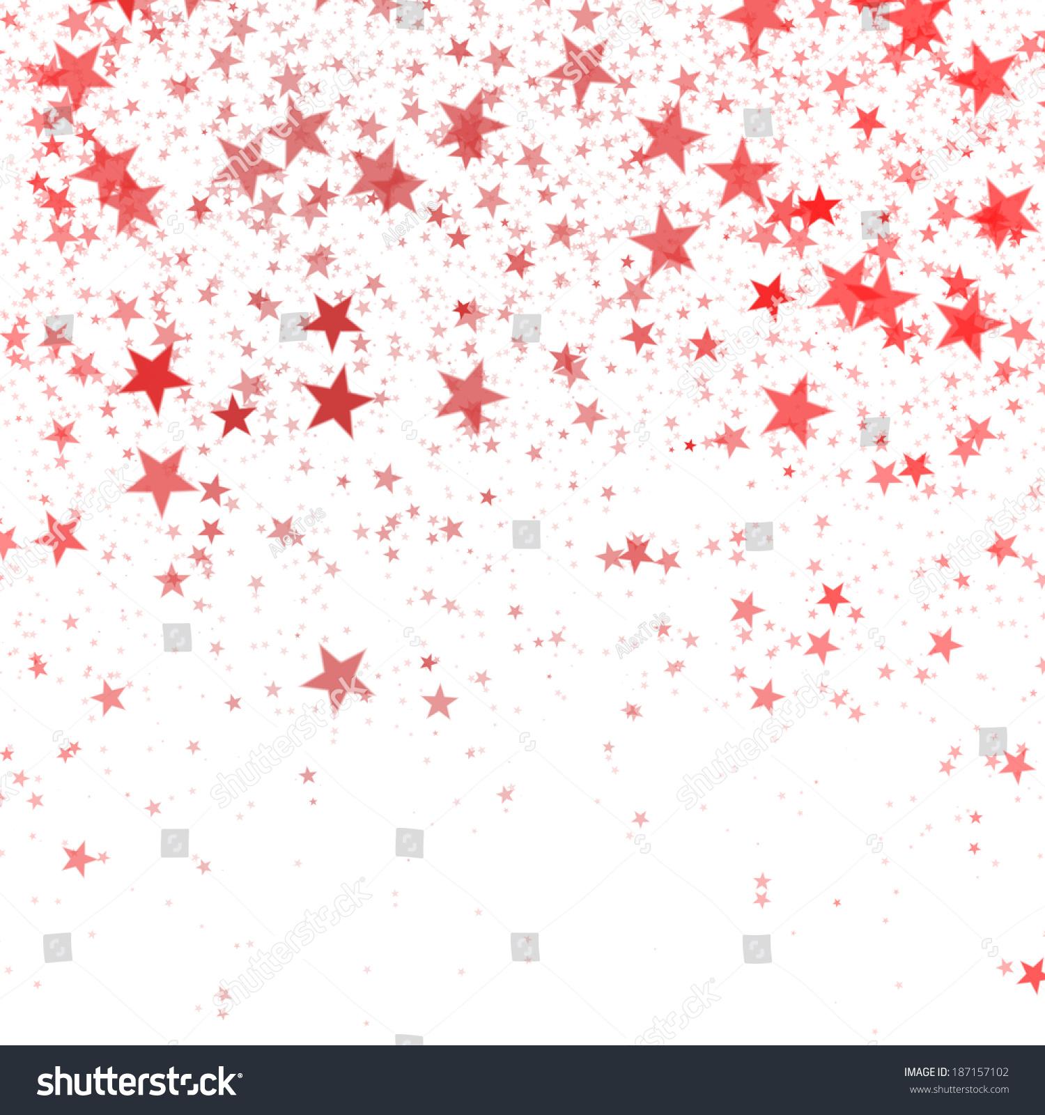 Red Stars On White Background Stock Illustration 187157102 ...