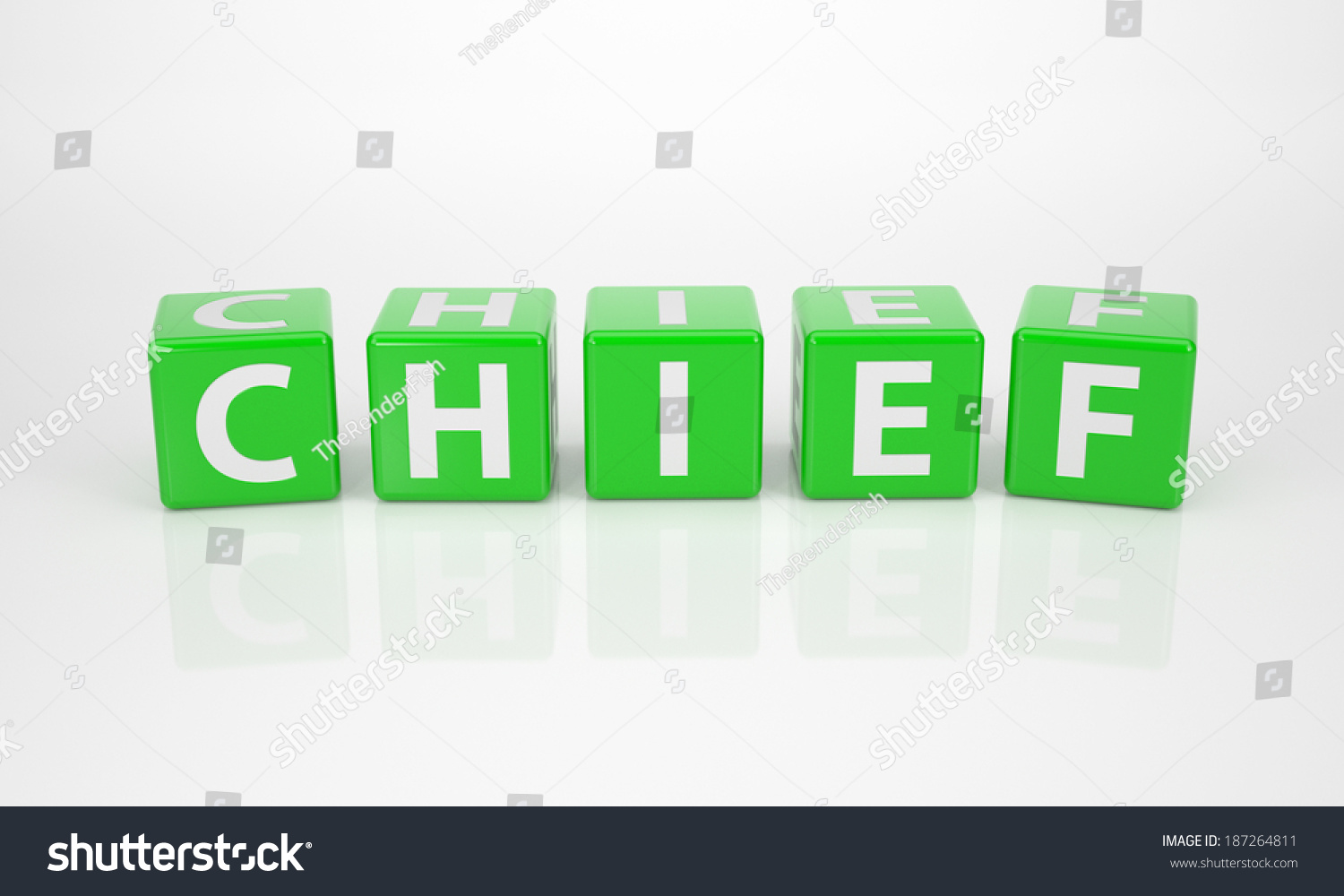 Illustration Dices Chief Word Letter Out Stock Green
