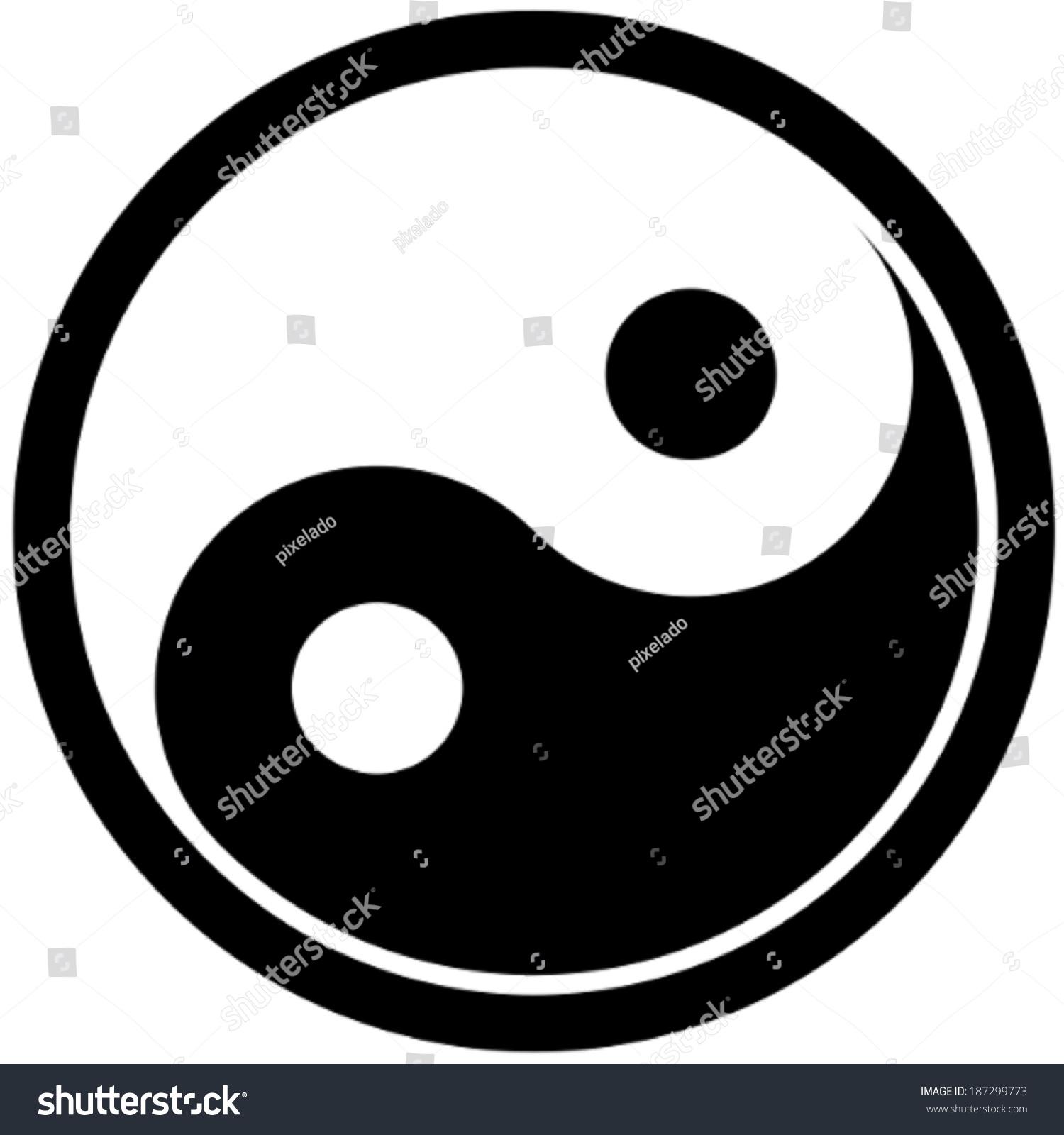 Vector drawing yin yang symbol stock vector 187299773 shutterstock vector drawing of a yin yang symbol buycottarizona Choice Image