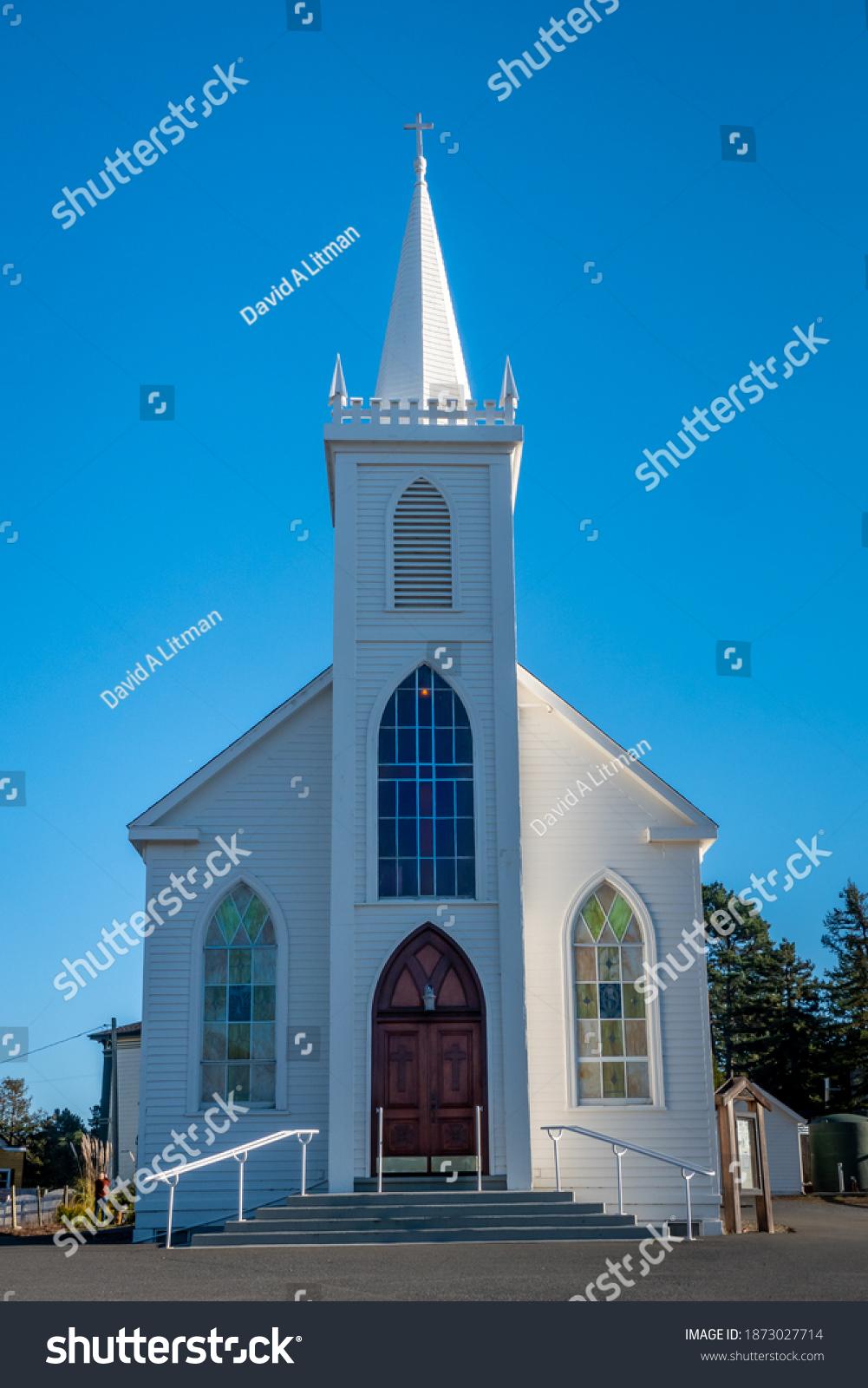 The Saint Teresa of Avila Church in Bodega Bay, California.