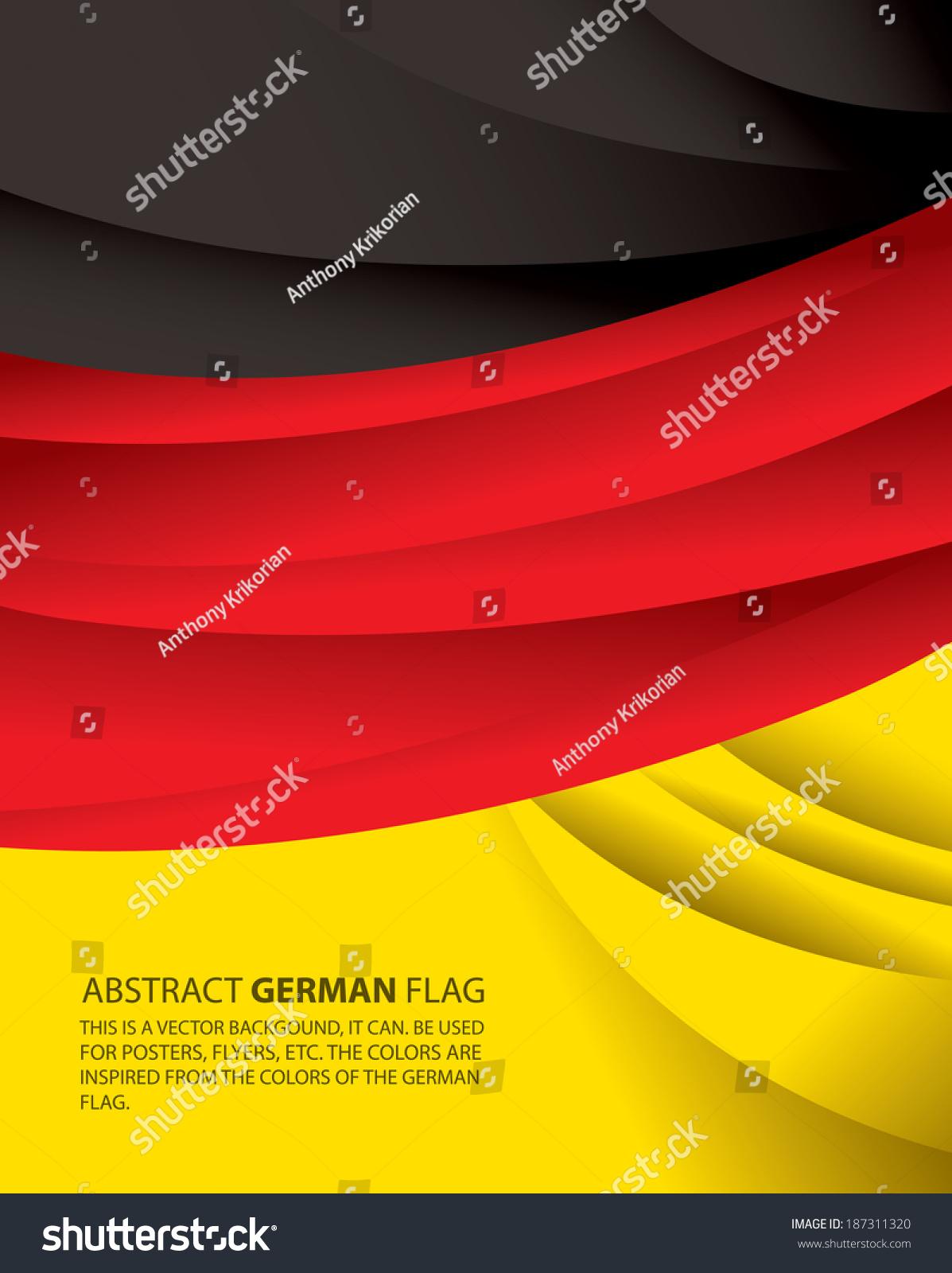 abstract germany german flag vector art stock vector 187311320