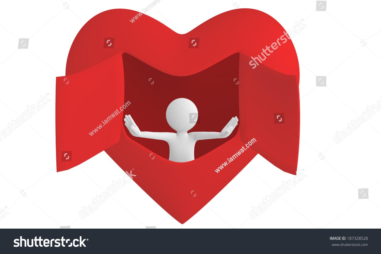 3d man open heart window stock illustration 187328528 shutterstock 3d man open heart window buycottarizona Gallery