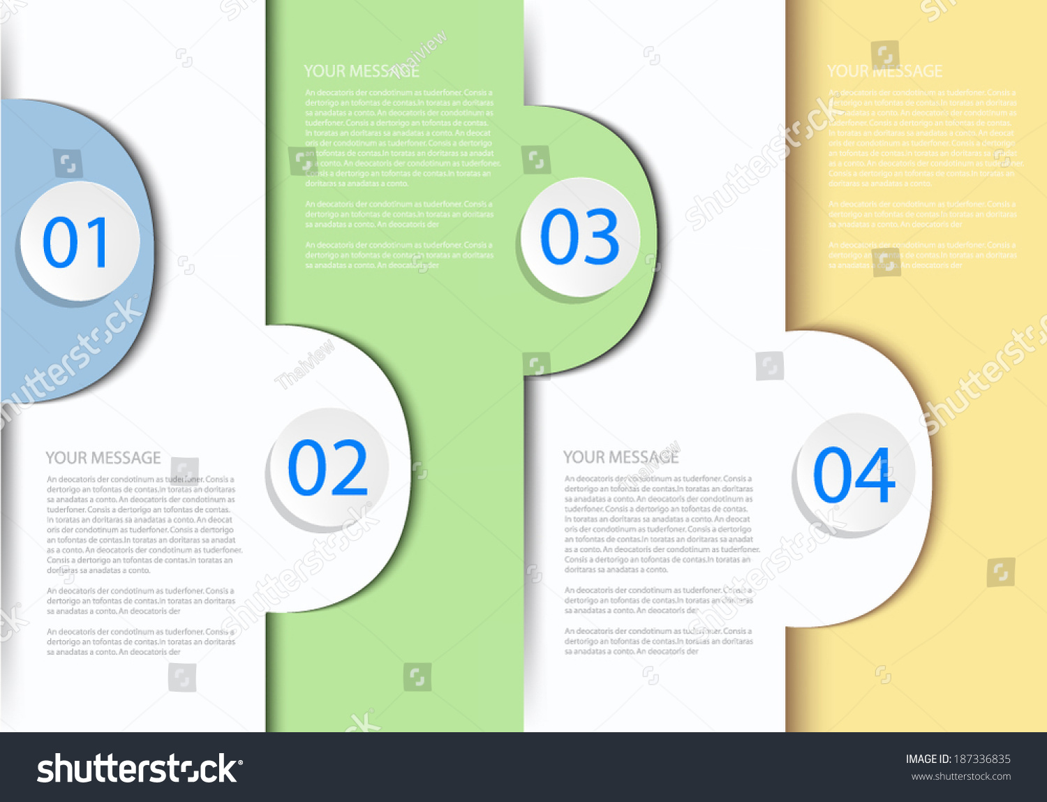 blue paper background abstract infographic for work plan on white background for text and message design