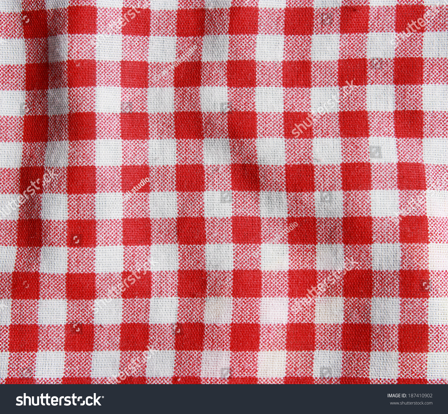 Texture Red White Checkered Picnic Blanket Stock Photo Edit Now