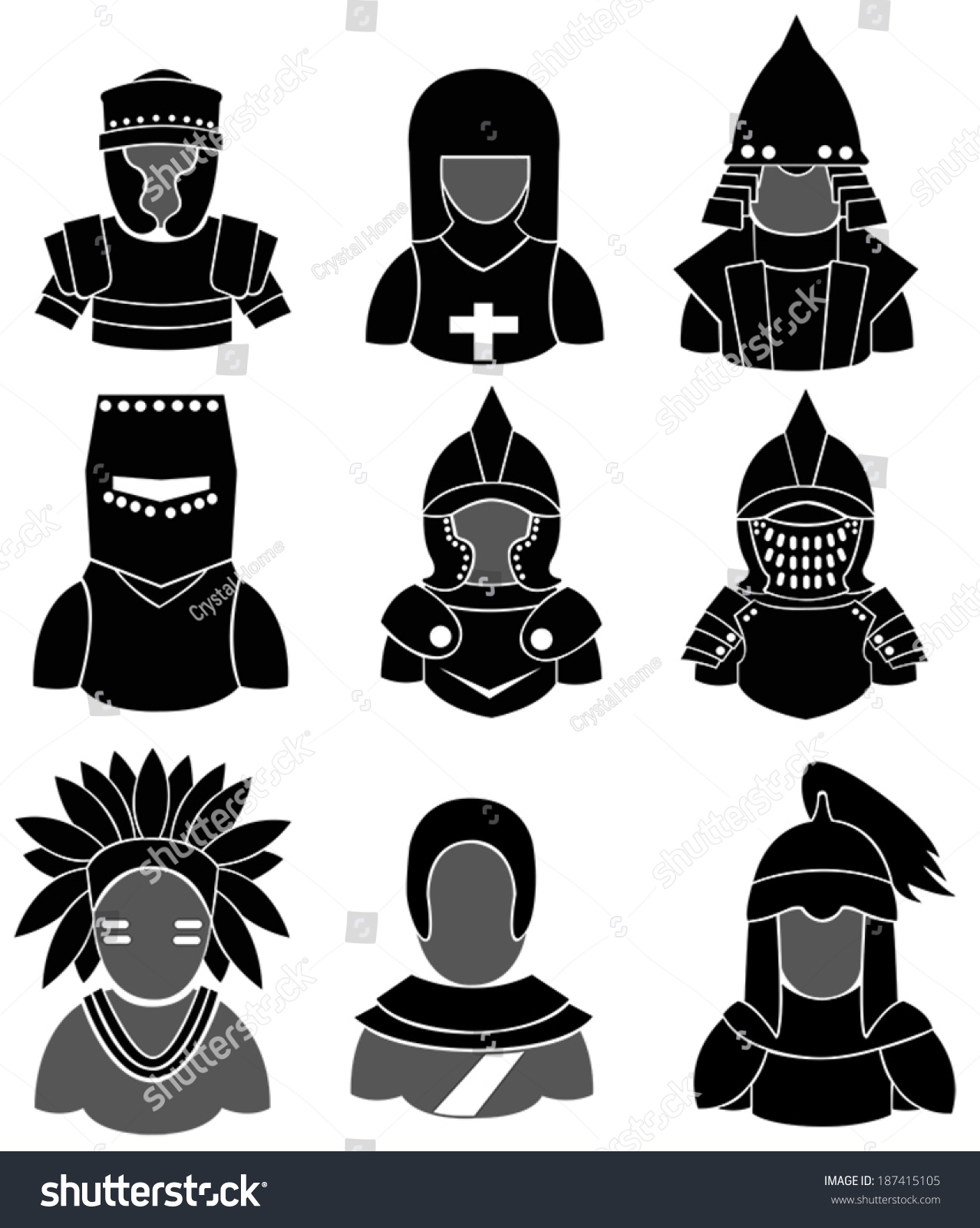 Silhouette ancient asian european warrior such stock vector silhouette ancient asian and european warrior such as mongol indian knight crusader biocorpaavc Choice Image