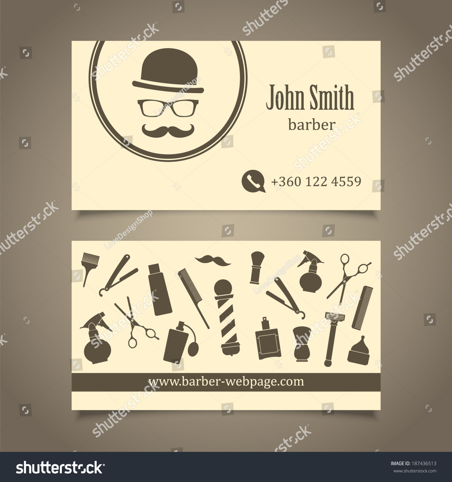 Royalty-free Hair salon barber shop Business Card… #187436513 ...