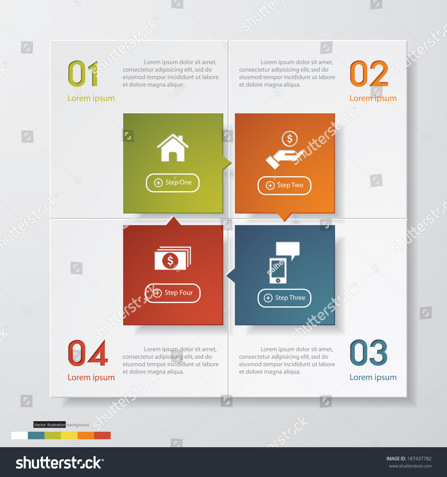 Design clean number banners templategraphic website stock for Blueprint number