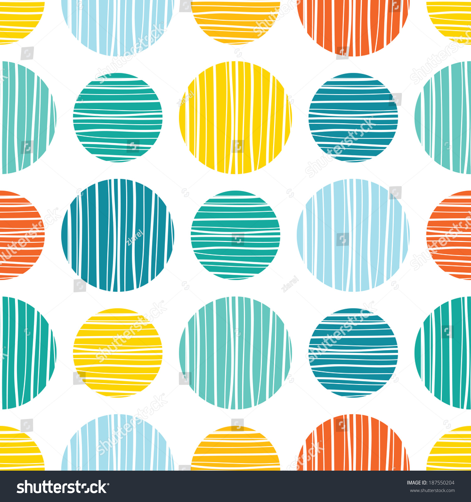 Scandinavian colorful lined rounds wallpaper background pattern design