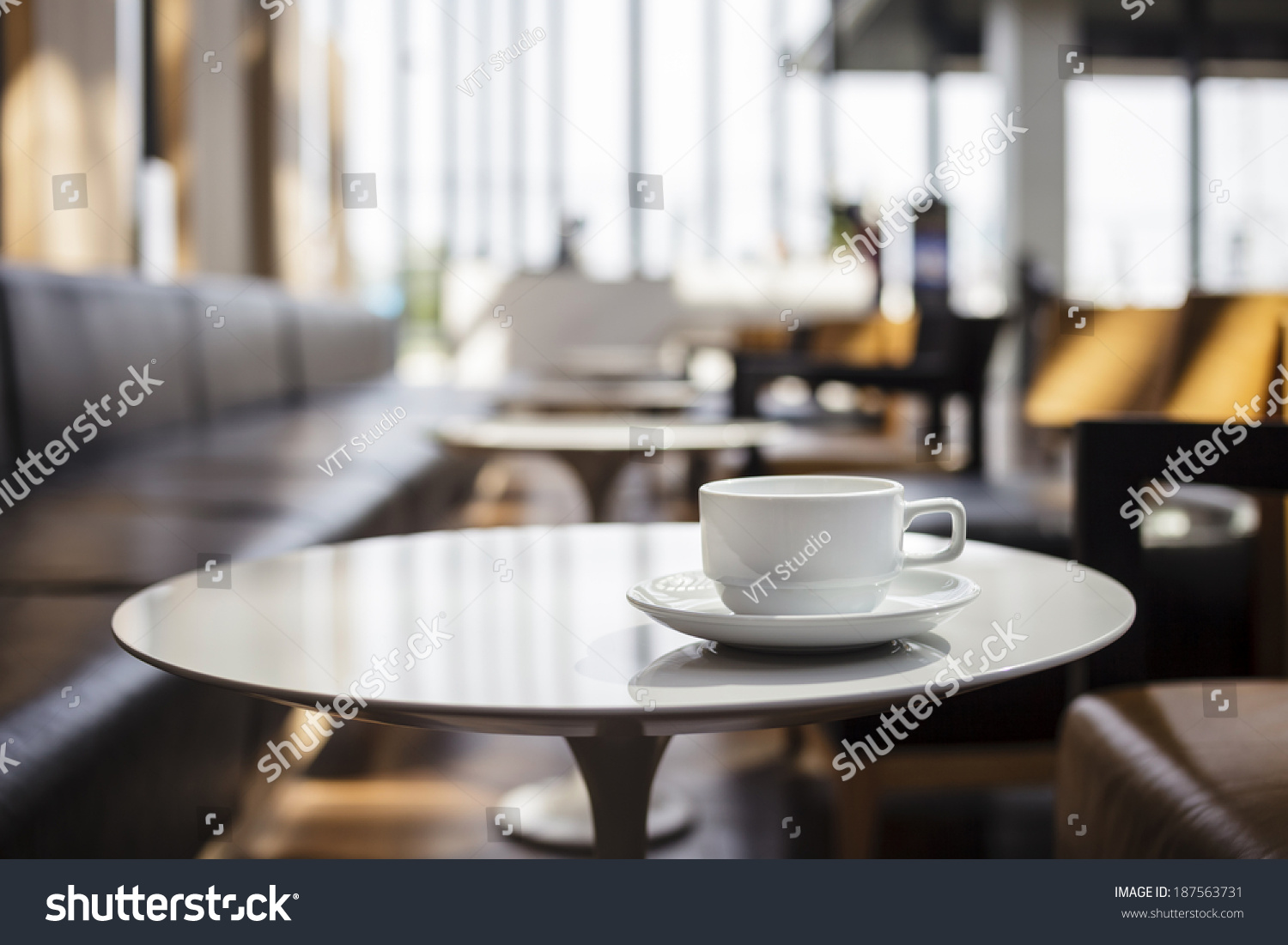 Coffee Shop Cafe Interior With Table Stock Photo 187563731 Shutterstock
