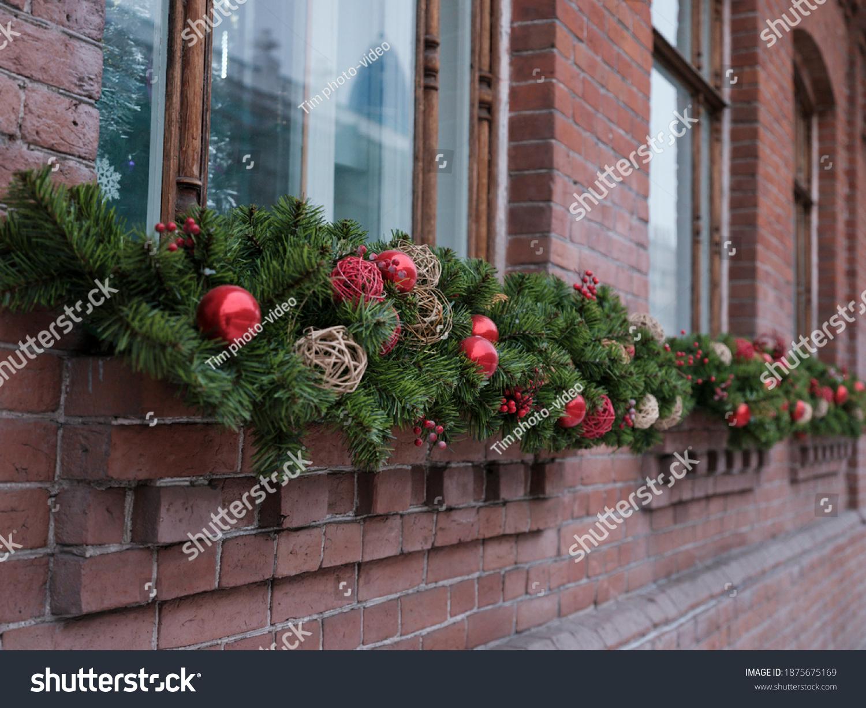 stock-photo-christmas-window-decoration-