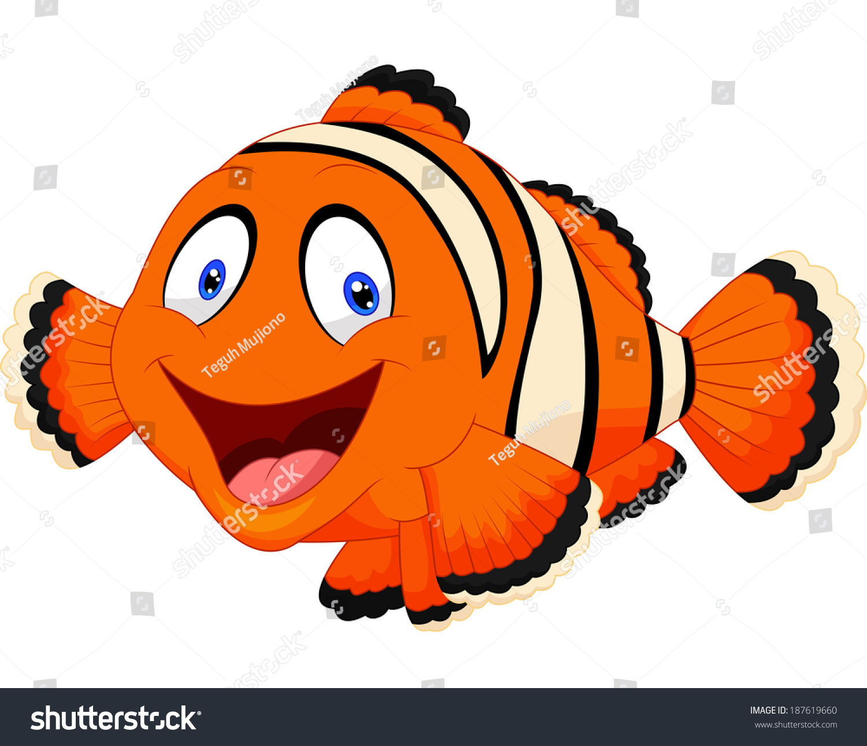 Cute Clown Fish Cartoon Stock Vector (Royalty Free) 187619660 ...
