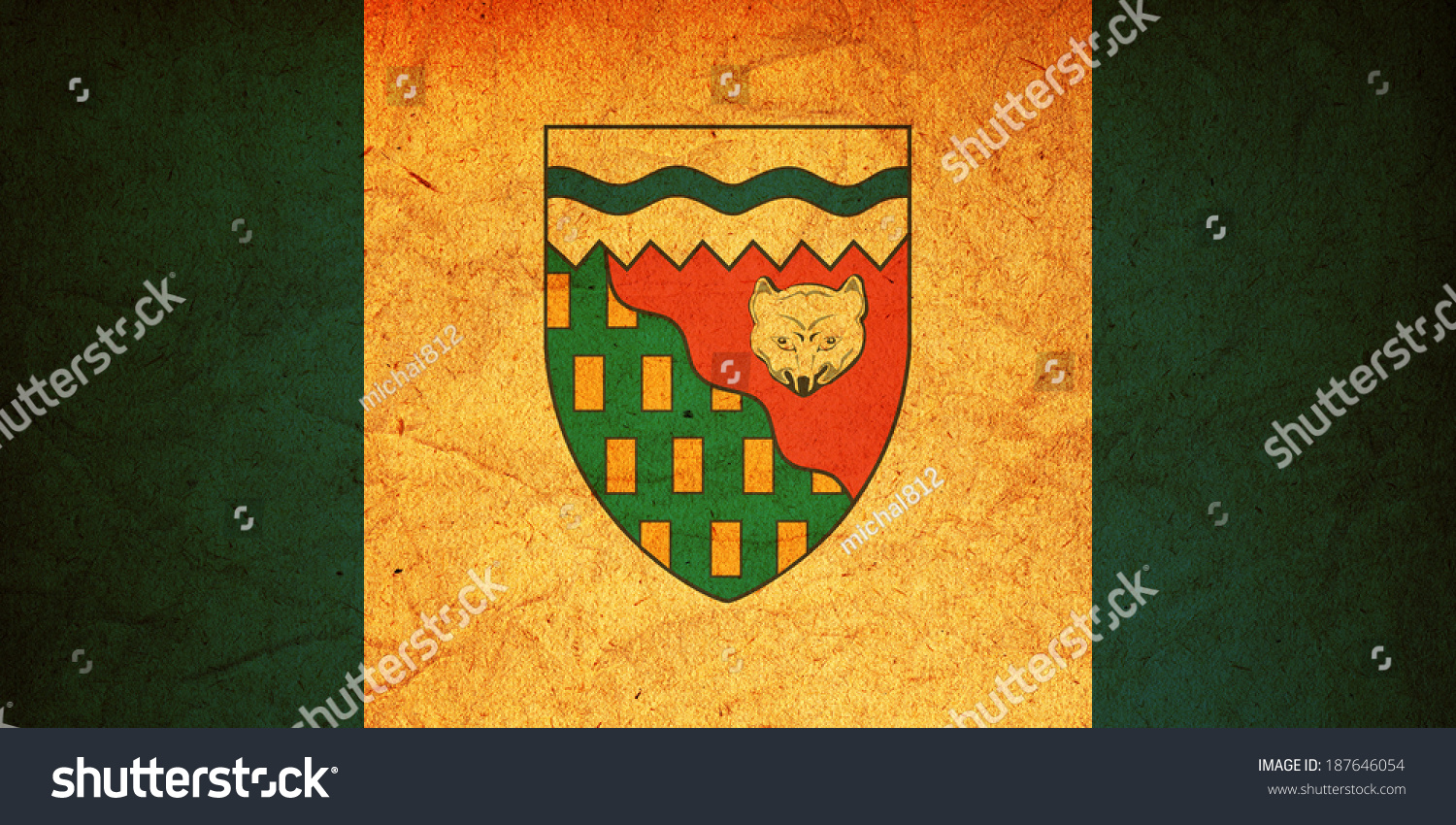 Some very old vintage flag northwest stock illustration 187646054 some very old vintage flag of northwest territories biocorpaavc Choice Image