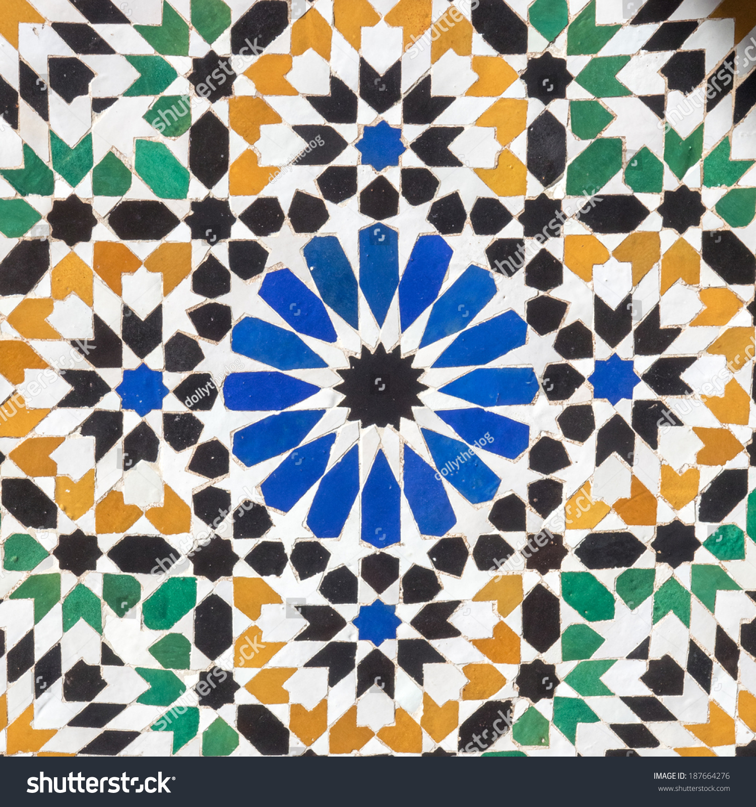 Islamic Mosaic Floor Tiles Stock Photo 187664276 - Shutterstock